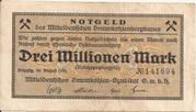 3,000,000 Mark (Mitteldeutsches Braunkohlen-Syndikat) – obverse