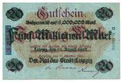 5,000,000 Mark (overprint on 20 Mark) – obverse