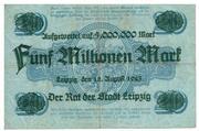 5,000,000 Mark (overprint on 20 Mark) – reverse