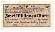 2,000,000 Mark (Mitteldeutsches Braunkohlen-Syndikat) – obverse