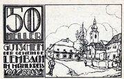 50 Heller (Lembach im Mühlkreis; Brown issue) -  reverse