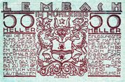 50 Heller (Lembach im Mühlkreis; Red issue) – obverse