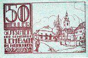 50 Heller (Lembach im Mühlkreis; Red issue) – reverse