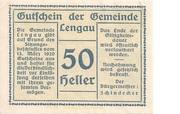 50 Heller (Lengau) -  obverse