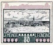 80 Heller (Leonding) – obverse