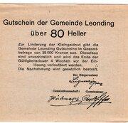 80 Heller (Leonding) – reverse
