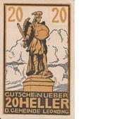 20 Heller (Leonding) – obverse