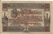 50 Heller (Leonfelden) -  obverse