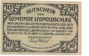 10 Heller (Leopoldschlag) -  obverse