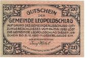 20 Heller (Leopoldschlag) -  obverse