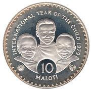 10 Maloti - Moshoeshoe II (International Year of the Child) – reverse