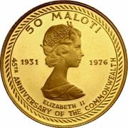 50 Maloti - Moshoeshoe II (Independence) – reverse