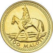 100 Maloti - Moshoeshoe II (10th Anniversary of Independence) – reverse