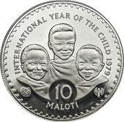 10 Maloti - Moshoeshoe II (International Year of the Child; Piedfort) – reverse