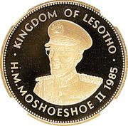1 Loti - Moshoeshoe II (Silver Jubilee) – obverse