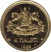 4 Maloti - Moshoeshoe II (Independence Attained) – reverse