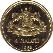 4 Maloti - Moshoeshoe II (Independence Attained) – reverse