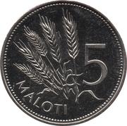 5 Maloti - Letsie III – reverse