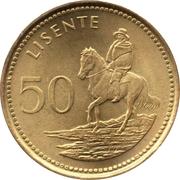 50 Lisente - Letsie III -  reverse