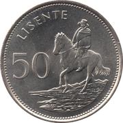 50 Lisente - Moshoeshoe II – reverse