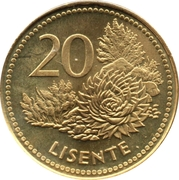 20 Lisente - Letsie III – reverse