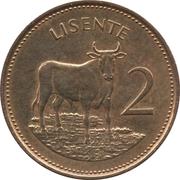2 Lisente - Moshoeshoe II – reverse
