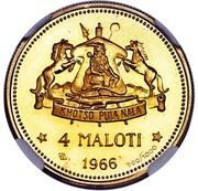 4 Maloti - Moshoeshoe II – reverse