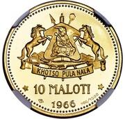 10 Maloti - Moshoeshoe II – reverse