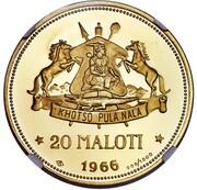 20 Maloti - Moshoeshoe II – reverse