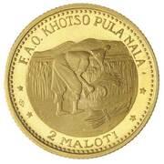 2 Maloti - Moshoeshoe II (FAO) – reverse