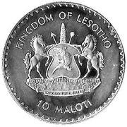 10 Maloti - Moshoeshoe II (George Washington) – obverse