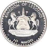 10 Maloti - Moshoeshoe II – obverse