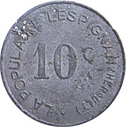 10 Centimes (Lespignan) – obverse