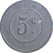 5 Centimes (Lespignan) – reverse