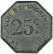 25 Centimes - La Populaire (Lespignan) -  obverse