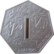 1 Lats (Coin of Digits) – reverse
