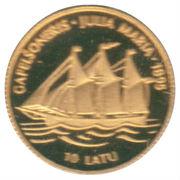 """10 Latu (""""Julia Maria"""" Sailing Ship) – reverse"""