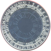 1 Lats (Coin of Time) – reverse