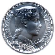 5 Lati (Bank of Latvia) – obverse
