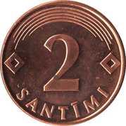 2 Santimi – reverse