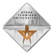 1 Lats (Riga Technical University) – reverse