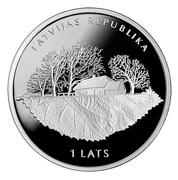 1 Lats (Rūdolfs Blaumanis) – obverse