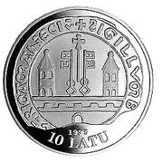 10 Latu (13th Century Riga) – obverse