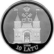 10 Latu (19th Century Riga) – obverse