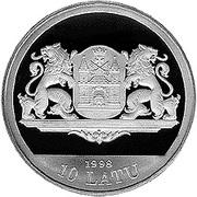 10 Latu (20th Century Riga) – obverse