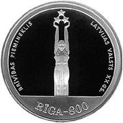 10 Latu (20th Century Riga) – reverse