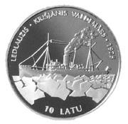 10 Latu (Icebreaker Krisjanis Valdemars) – reverse