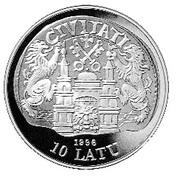 10 Latu (16th Century Riga) – obverse