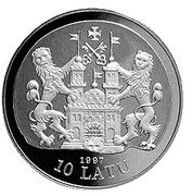 10 Latu (17th Century Riga) – obverse