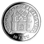 10 Latu (15th Century Riga) – obverse